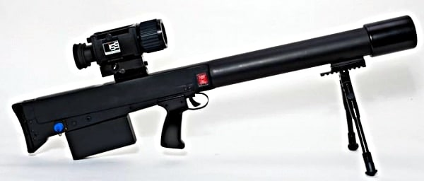 side view of anti riot laser