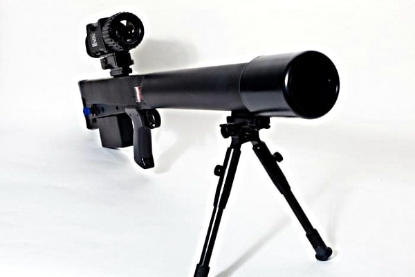 front view of anti riot laser