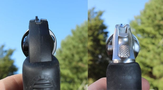 The Ruger LCR and SP 101 sights