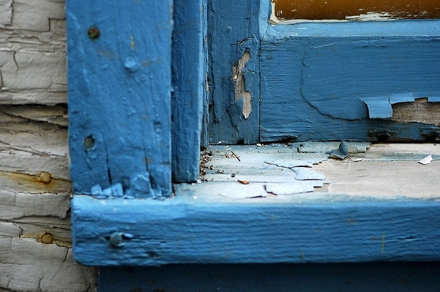 window paint chip