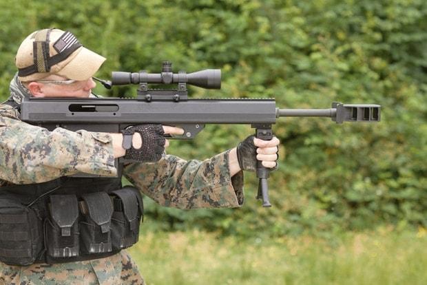 MICOR Leader 50 .50 BMG Rifle at range