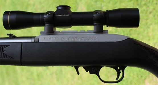 Leupold FX-1 Rimfire mounted to a Ruger 10/22