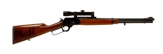 lever action rifle with scope