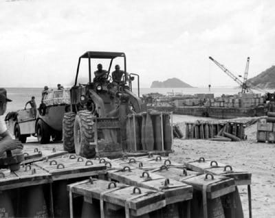 M16 in crates, Viet Nam 1970