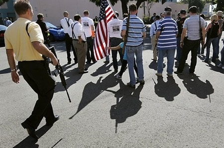 open carrying at second amendment rally