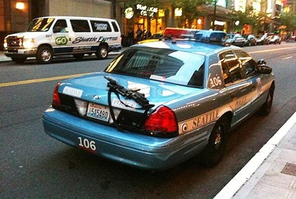 lost gun on cop car