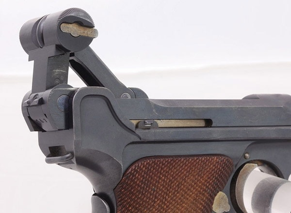 view of mechanics of luger pistol