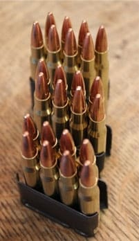 M1 Garand en bloc clips full of bullets