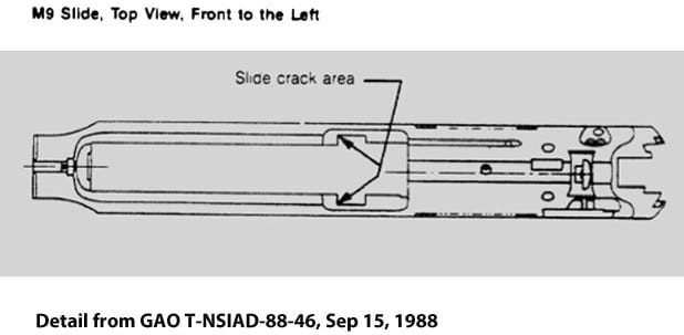 Beretta m9 Slide Crack Drawing