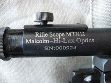 Rifle Scope M73G2 Malcolm Hi Lux Optics