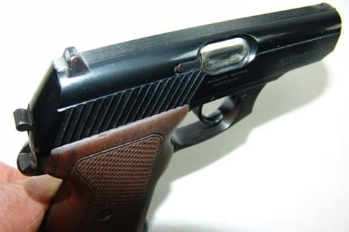 Mauser HSc-80 sights and side view.