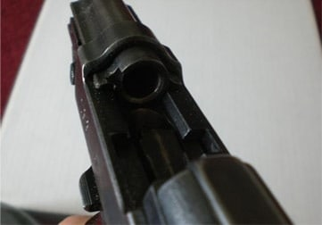 The chamber of the Mauser P38
