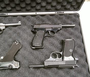 A box of Mauser pistols