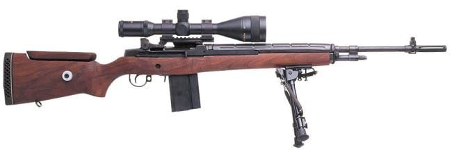 modern sniper rifle with scope
