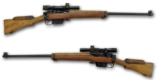 antique sniper rifles with wooden bodies