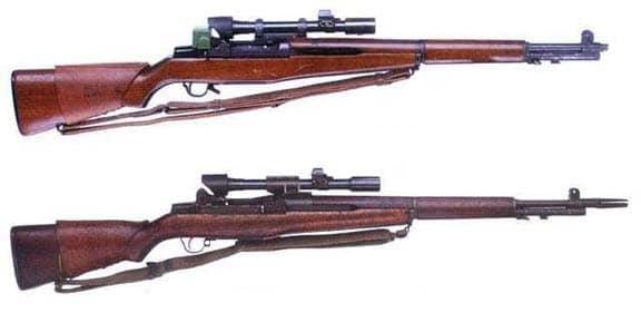 2 vintage sniper rifles