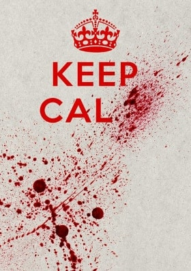 Keep Calm blood sign