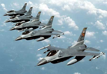 A squad of jets soaring through the sky like eagles