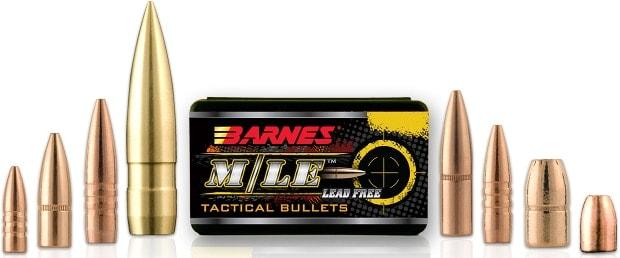 Barnes M/LE Lead Free Tactical Bullets Military Law Enforcement Ammo Ammunition Reloader Reload