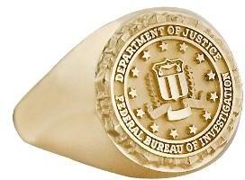 fbi gold ring