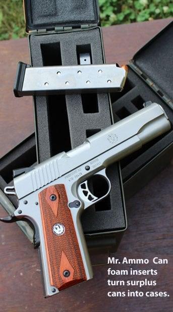 Ruger SR1911 on Mr. Ammo Can Pistol Case