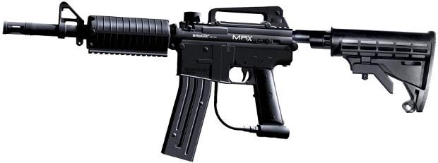 mrx paintball gun on white background