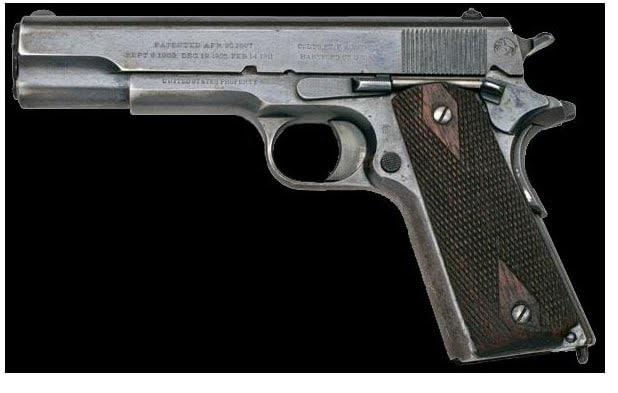 Colt 1911 Government Model semi-auto pistol.