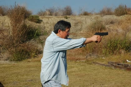 No hearing protection at shooting range
