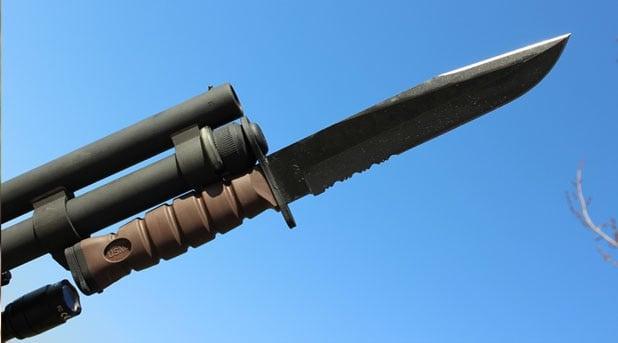 bayonet on a shotgun