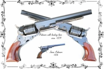 Crossed Paterson revolvers.