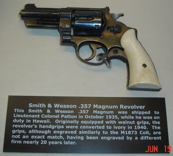 george patton ivory handed revolver