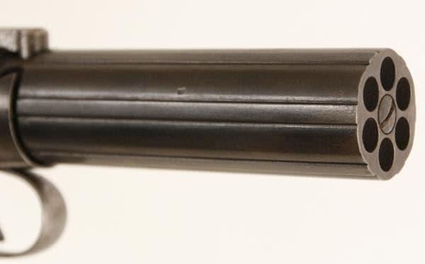 pocket gun barrel view