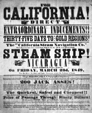 california gold rush flyer