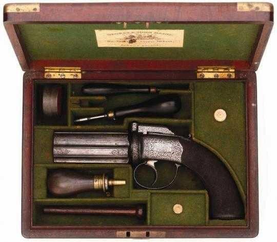 pepperbox gun in case