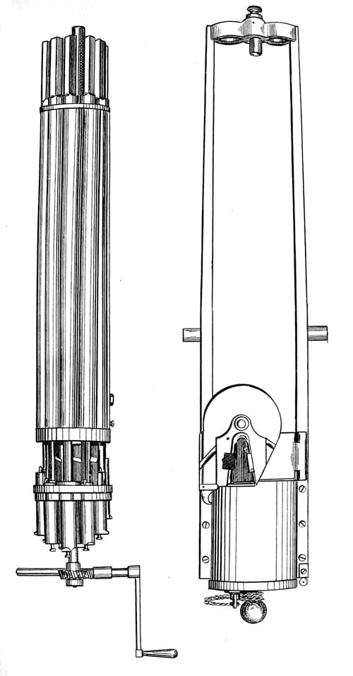 drawing of pepperbox gun