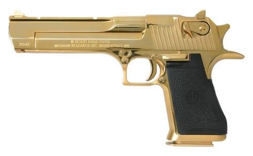 gold plated handgun