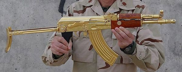 gold plated rifle