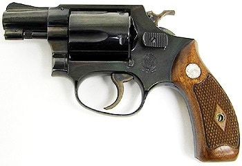 38 special revolver on white background