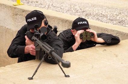 Police sniper.