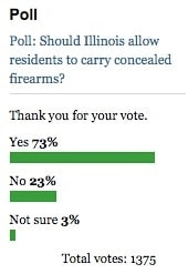Poll: Should Illinois allow residents to carry concealed firearms?