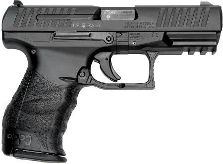 walther ppq handgun on white background