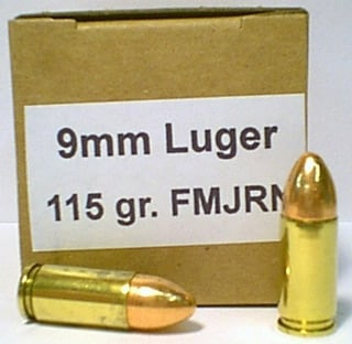 9mm luger bullets in box