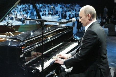 Putin playing piano