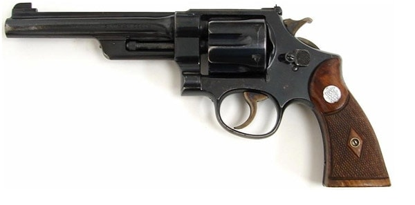 smith and wesson magnum revolver on white background
