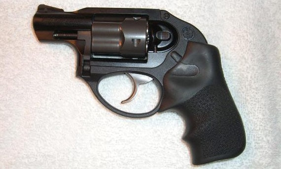 Ruger LCR on flat surface