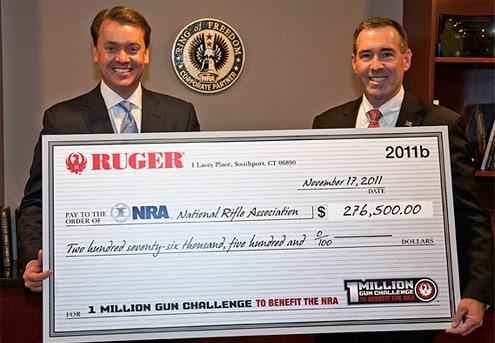 Ruger 1 million gun challenge donates to NRA