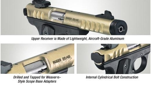 spec sheet for ruger 22-45 lite pistol