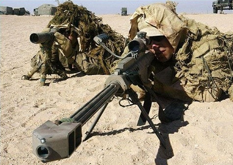 military sniping in the desert