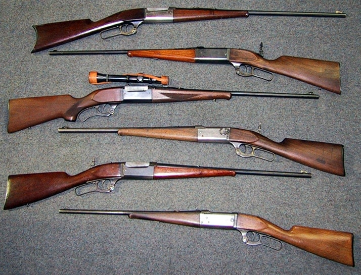 Savage 99 models in different calibers.