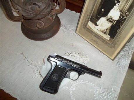 The Savage Model 1907 semi auto pistol